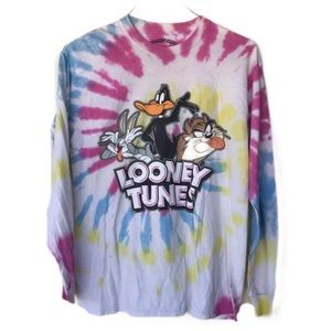 Looney Tunes long sleeve tie dyed t shirt